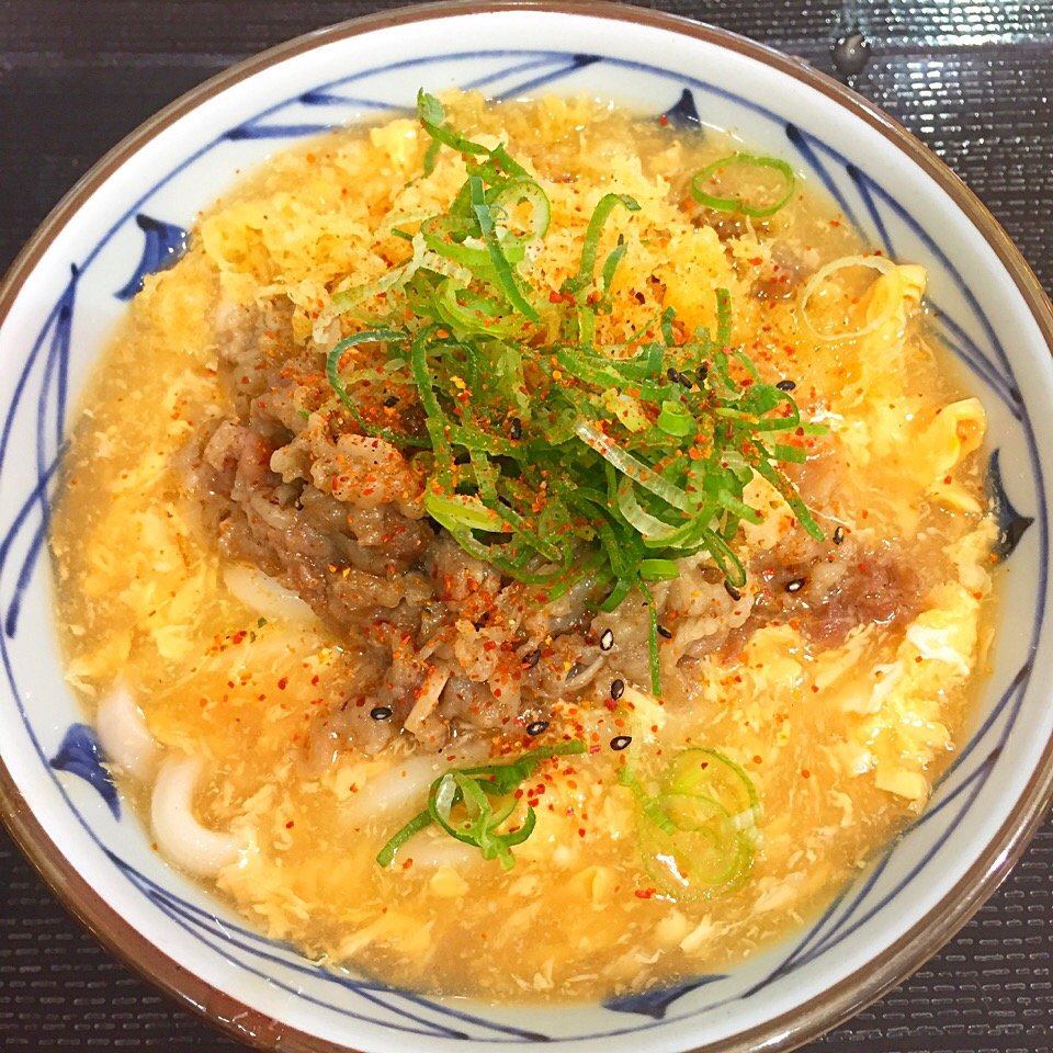 丸亀製麺 肉たまあんかけ at 丸亀製麺 イオンモール札幌苗穂店 SnapDish 料理カメラ