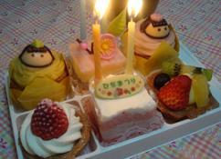 お祝いのケーキ☆