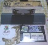 名古屋城博の記念切手入れ見開き