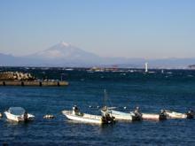 真名瀬から見える富士山