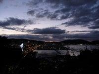 崖からの夕暮れ
