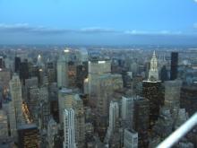 夕暮れのニューヨーク
