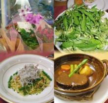 綺麗なお花と美味しいお食事、し・あ・わ・せ^^