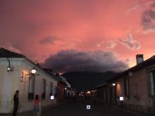 アンティグア夕景