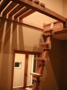 ロフトの梯子☆完成
