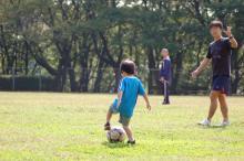 長男とサッカー1