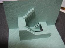 折り紙建築 飛び出すカード