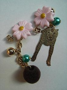 flower&leopard-pierce