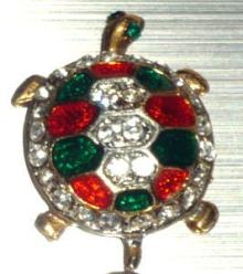 赤&緑ピンブローチ