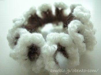 毛糸シュシュ編み方