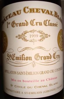 Ch Cheval Blanc 1999