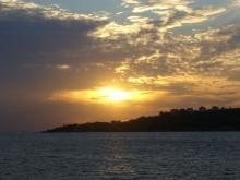 夕日とイスタンブール