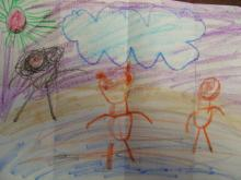 こうせい君が描いたばばちゃんの沖縄のイメージ!