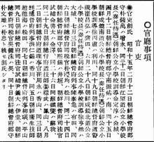 呉・南と創氏しの実例(小)