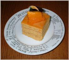カボチャのショートケーキ
