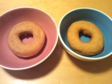 格闘親子と、のほほん母-ドーナツ