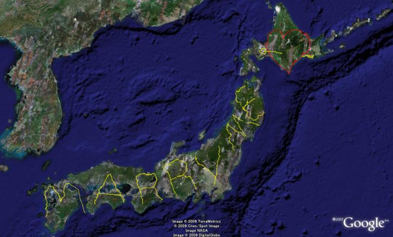 やっさんのGPS絵画プロジェクト-GPS進捗0104