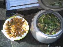 あわび飯とウニ