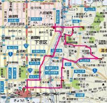 京都1日目の軌跡