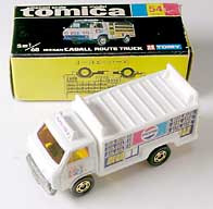TOMICA NISSAN CABALL ROUTE TRUCK