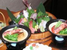 春の日本海刺身盛り