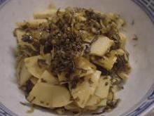 高菜と竹の子の炒め物4