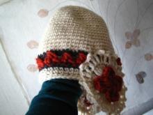 母手作りの帽子