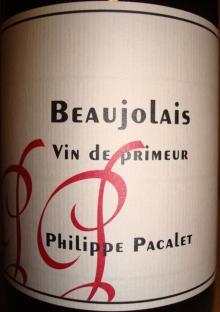 Beaujolais Vin de Primeur Philippe Pacalet 2008