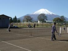 テニスコート風景