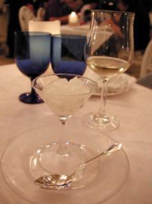 シャンパン風味のグラニテ