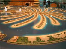 ナキール内パームジュメイラ模型2