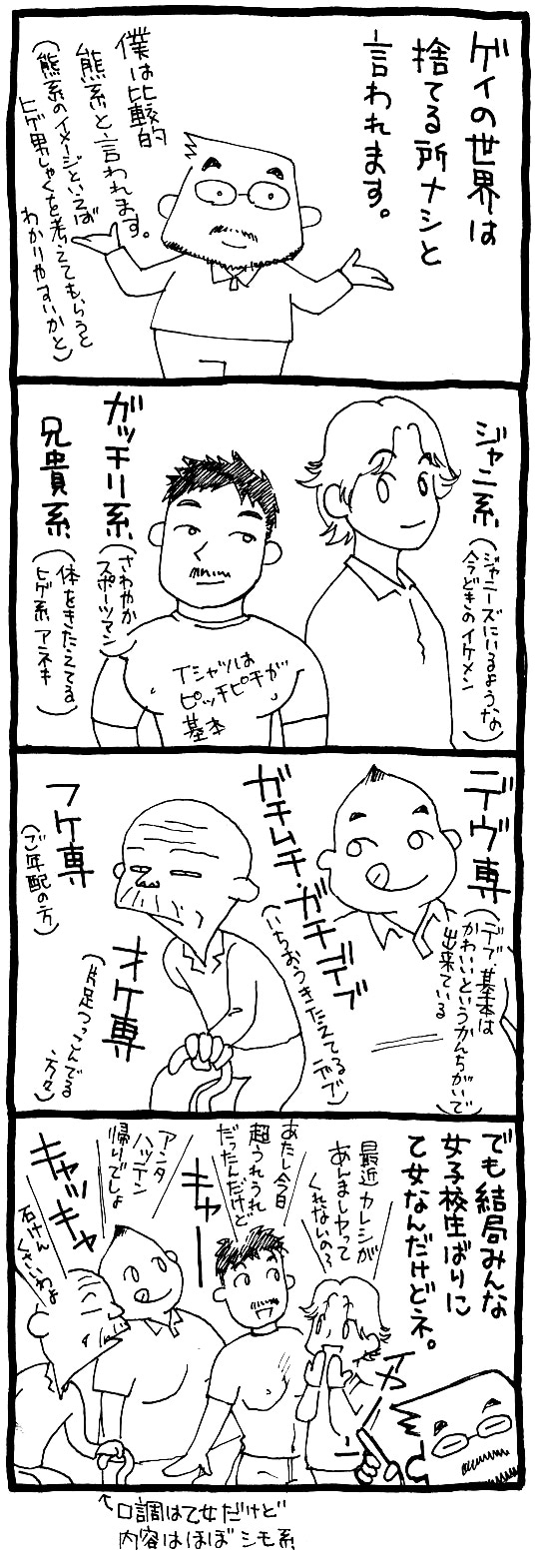 ゲイ 漫画 4コマ