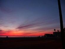気まぐれな世界-Sunset at Huntington beach2