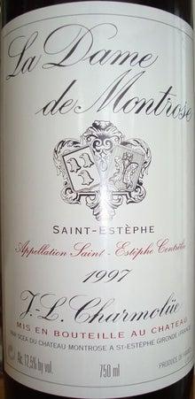 個人的ワインのブログ-La Dame de Montrose 1997