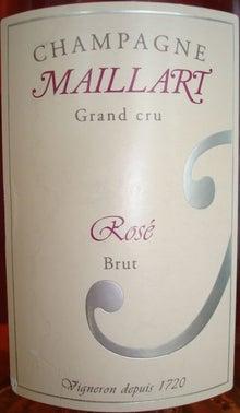 個人的ワインのブログ-Champagne Maillart Grand Cru Rose Brut
