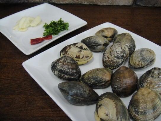 長澤家のレシピブログ-ボンゴレビアンコ食材画像