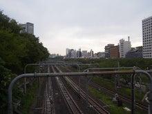 続 東京百景(BETA version)-#035 雨上がりの線路(牛込橋にて)
