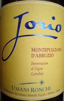 個人的ワインのブログ-Jorio Montepulciano DAbruzzo Umani Ronchi 2006