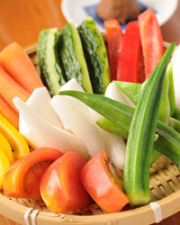 九州焼鳥・馬刺し・無農薬野菜の鳥亭のブログ-生野菜