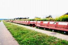 カルマンギアのある生活-世界一長いベンチ