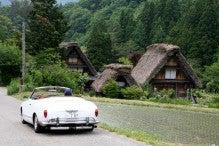 カルマンギアのある生活-合掌造りの家とカルマン
