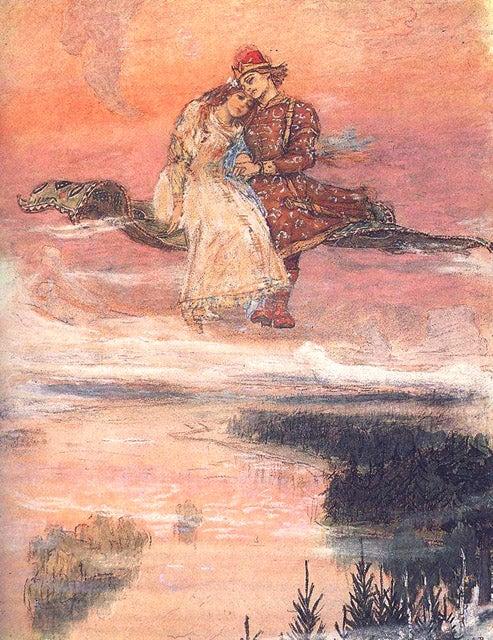 ヴァスネツォフの「空飛ぶ絨毯」 【 未開の森林