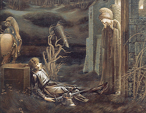 REMOVE The Dream of Launcelot at the Chapel of the San Graal (1895), Southampton City Art Gallery, Southampton