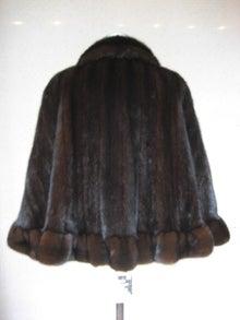 大木毛皮店ギタバカ工場長の毛皮修理リフォーム専門ブログ-ミンクコートをケープにフリル付き
