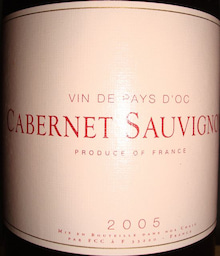 個人的ワインのブログ-Cabernet Sauvignon Vin de Pays 2005