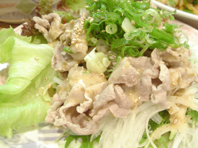 美味しいお店探し旅 -関西中心にいろいろ--豚しゃぶサラダ