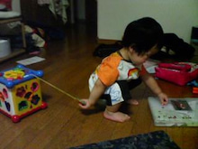 Grumpy Monkey(不機嫌なおさるさん)の観察日記-mini taking music box_Aug1