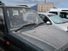 カルマンギアのある生活-桜島の火山灰