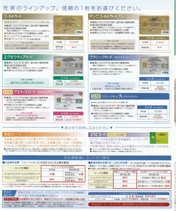 三井住友VISAカード 入会申込書 0908