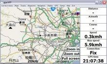 viliv S5 のレビューとか-gpsVPで地図が表示された